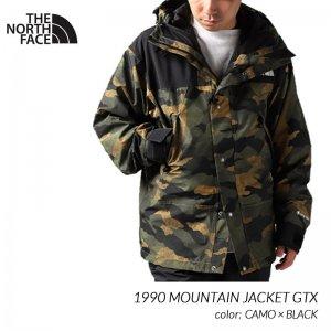 日本未発売 THE NORTH FACE 1990 MOUNTAIN JACKET GTX CAMO × BLACK ザ ノースフェイス ジャケット ( ゴアテックス NF0A3XEJF32 )