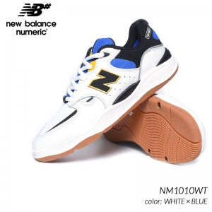 NEW BALANCE NUMERIC NM1010WT WHITE × BLUE ニューバランス ヌメリック スニーカー ( 白 ホワイト 青 ブルー スケート メンズ )