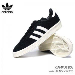 adidas CAMPUS 80s BLACK × WHITE アディダス キャンパス スニーカー ( 黒 ブラック 白 ホワイト メンズ FX5438 )