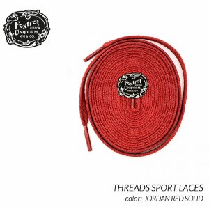 <img class='new_mark_img1' src='https://img.shop-pro.jp/img/new/icons47.gif' style='border:none;display:inline;margin:0px;padding:0px;width:auto;' />Foxtrot Uniform THREADS SPORT LACES JORDAN RED SOLID フォックストロット ユニフォーム シューレース スニーカー ( 120cm 170cm )