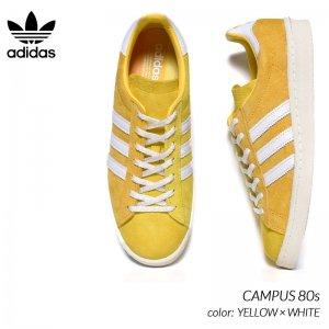 adidas CAMPUS 80s YELLOW × WHITE アディダス キャンパス スニーカー ( 黄色 イエロー 白 ホワイト スエード メンズ FX5443 )