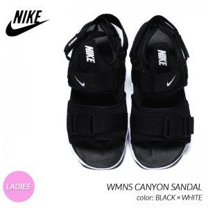 NIKE WMNS CANYON SANDAL BLACK × WHITE ナイキ ウィメンズ キャニオン サンダル スニーカー ( 黒 ブラック 白 ホワイト レディース CV5515-001 )