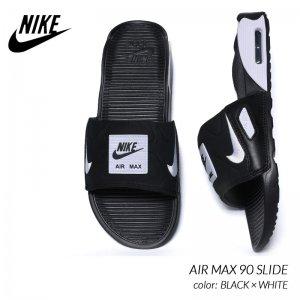 NIKE AIR MAX 90 SLIDE BLACK × WHITE ナイキ エアマックス スライド サンダル ( ベナッシ BENASSI 黒 白 SANDAL メンズ BQ4635-002 )