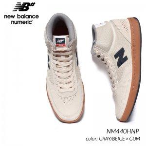 日本未発売 NEW BALANCE NUMERIC NM440HNP GRAY/BEIGE × GUM ニューバランス ヌメリック スニーカー ( 海外限定 ハイカット メンズ )