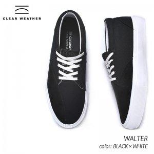 日本未発売 CLEAR WHEATHER WALTER BLACK × WHITE クリアウェザー ブランド ウォルター スニーカー ( 海外限定 デッキシューズ 黒 ブラック CM016007 )