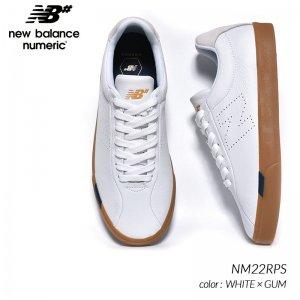 日本未発売 NEW BALANCE NUMERIC NM22RPS WHITE × GUM ニューバランス ヌメリック スニーカー ( 海外限定 白 ホワイト スケート メンズ )