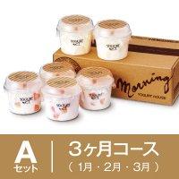 【3ヶ月まとめてAセット】1月〜3月 季節の果実入りヨーグルト6個セットの商品画像