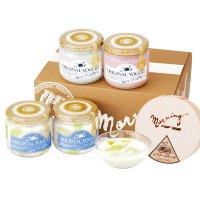 【SY-R5ME】メロンの果実入りヨーグルト4本とレアチーズケーキセットの商品画像