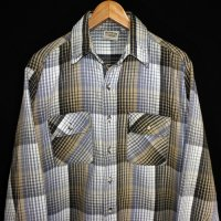 80-90s FIVE BROTHER Flannel Shirt