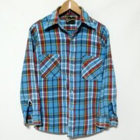 70-80s KLONDIKE flannel Shirt Boys
