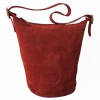 OLD COACH Suede Shoulder Bag バケツ型 RED