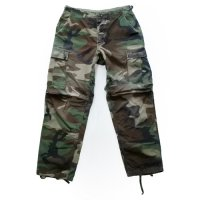 90y US Military BDU PT Woodland Camo Rip