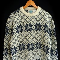 90s ROYAL NORTH MILLS OUTFITTERS Wool Sweater 雪柄 USA製
