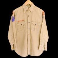 40s BOY SCOUTS Cotton Shirt チェンジボタン マチ付き