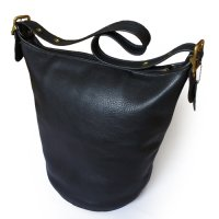 OLD COACH Leather Shoulder Bag バケツ型 BLK