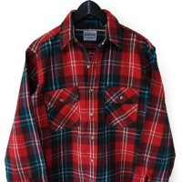 70s FIVE BROTHER Flannel Shirt RED/BLK/BLU