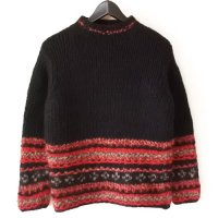 90s Eddie Bauer Hi Neck Sweater BLK