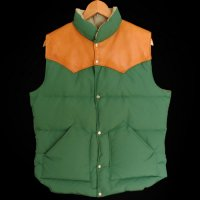 70s Schaefer OUTFITTER Leather Yoke Down Vest