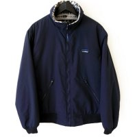 80-90s L.L. Bean Nylon Fleece Boa JKT NVY