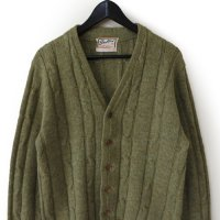60s Brent Wood Knit Cardigan
