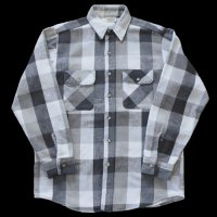 90s FIVE BROTHER Flannel Shirt BLK/GRY/WHT USA製