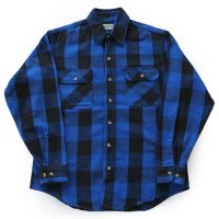 90s ST JOHN'S BAY Flannel Shirt ブロックチェック USA製