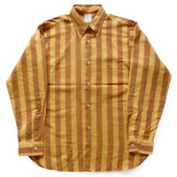 60s- ARROW CUM LAUDE Stripe Cotton B.D Shirt