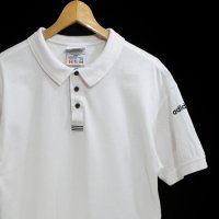 90s adidas POLO WHT 100% COTTON PERU製