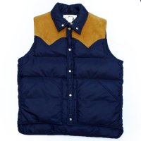 70s - 80s Wool Rich DOWN VEST レザーヨーク