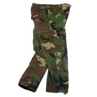 KIDS 90s WOODLAND CAMO PANTS