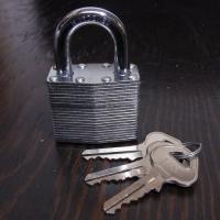 南京錠 鍵付き
