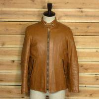 -70s JUST LEATHER Single Riders JKT