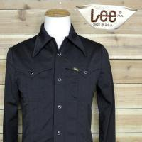 70's Lee POLY SHIRT BLK