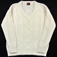 70s KINGSPORT Acrylic V-neck Sweater