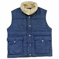 80s SPORTSMASTER Denim Boa Vest