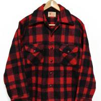 50s Lumber King Wool JKT RED×BLK